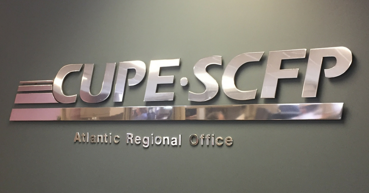 CUPE Atlantic Regional Office sign