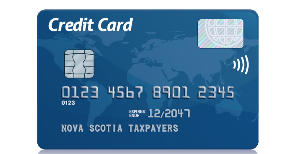Credit card Nova Scotia taxpayers