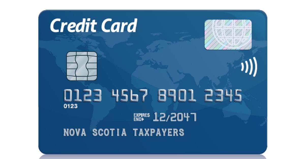 Credit card Nova Scotia taxpayers
