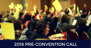 2018 Pre-Convention call
