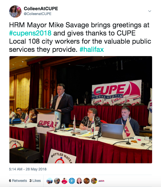 Twitter: Mike Savage, the mayor of Halifax Regional Municipality