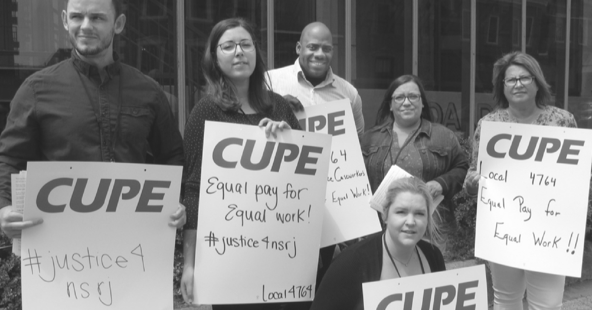 CUPE 4764 picket line