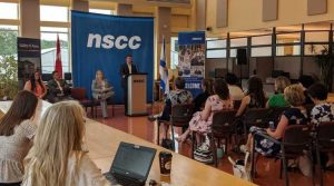 Minister of Health and Wellnes Randy Delorey at NSCC