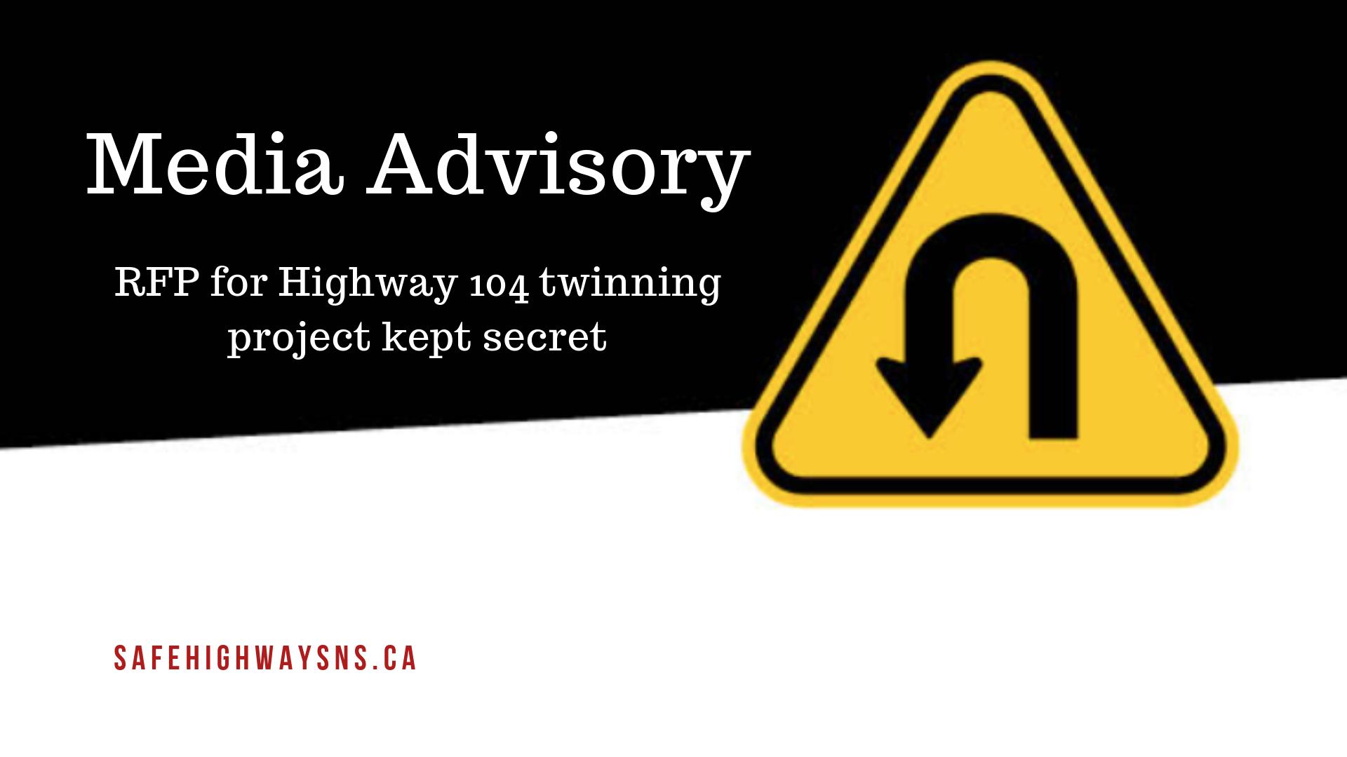 Media advisory P3 highway 104