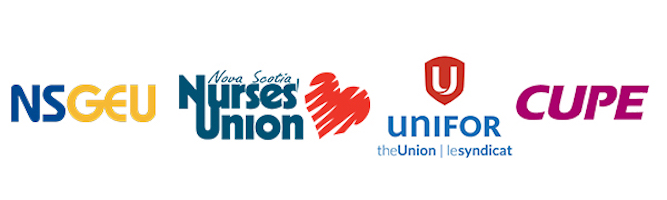 Four Unions' logos - health care sector