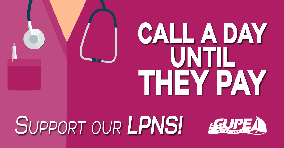 Web banner: Call a day until they pay; Support LPNs