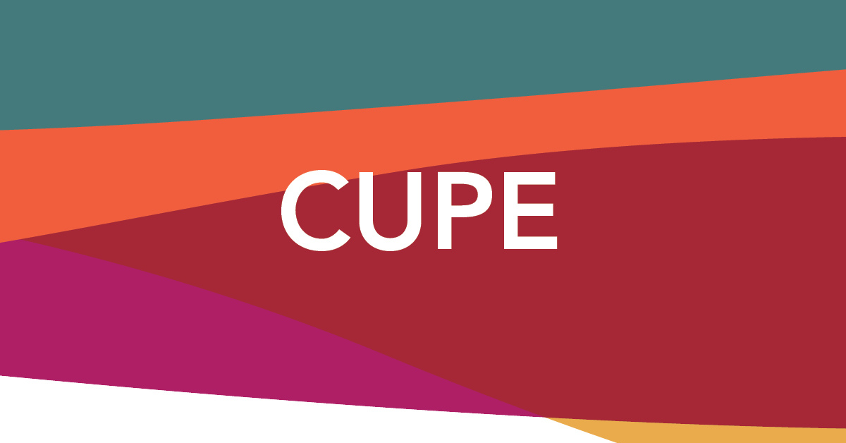 Web banner: CUPE