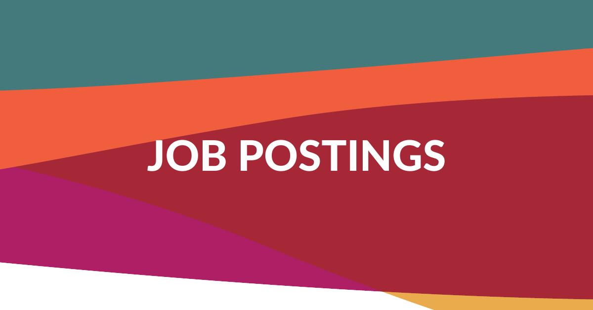 Web banner. Text: Job postings