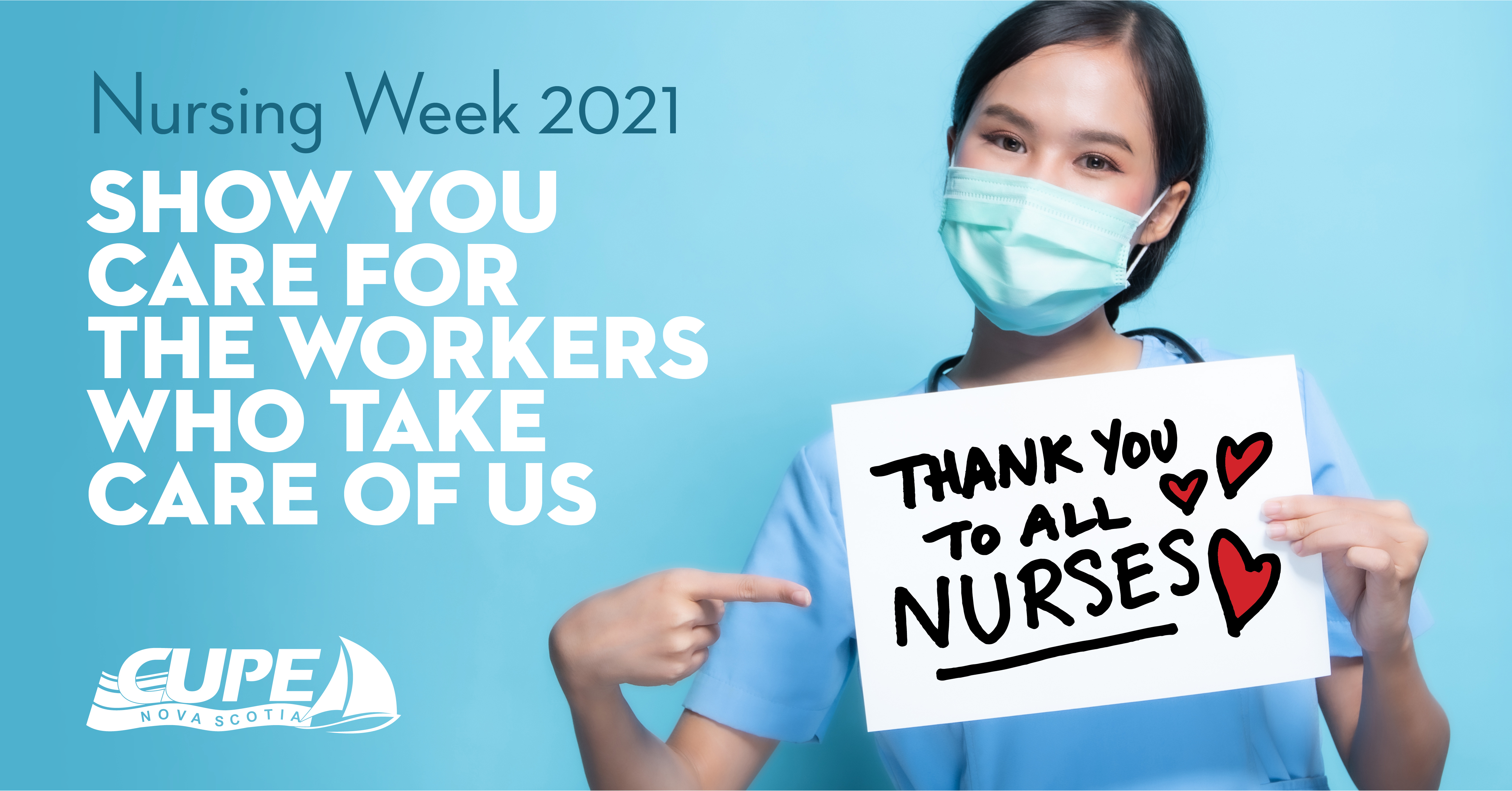 Web banner. Nursing Week 2021: Thank you to all nurses!