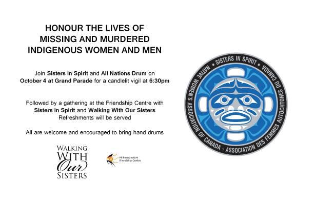 Sisters in Spirit vigil 2016 in Halifax
